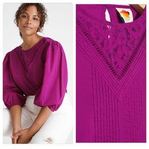 Anthropologie farm rio kelsie blouse